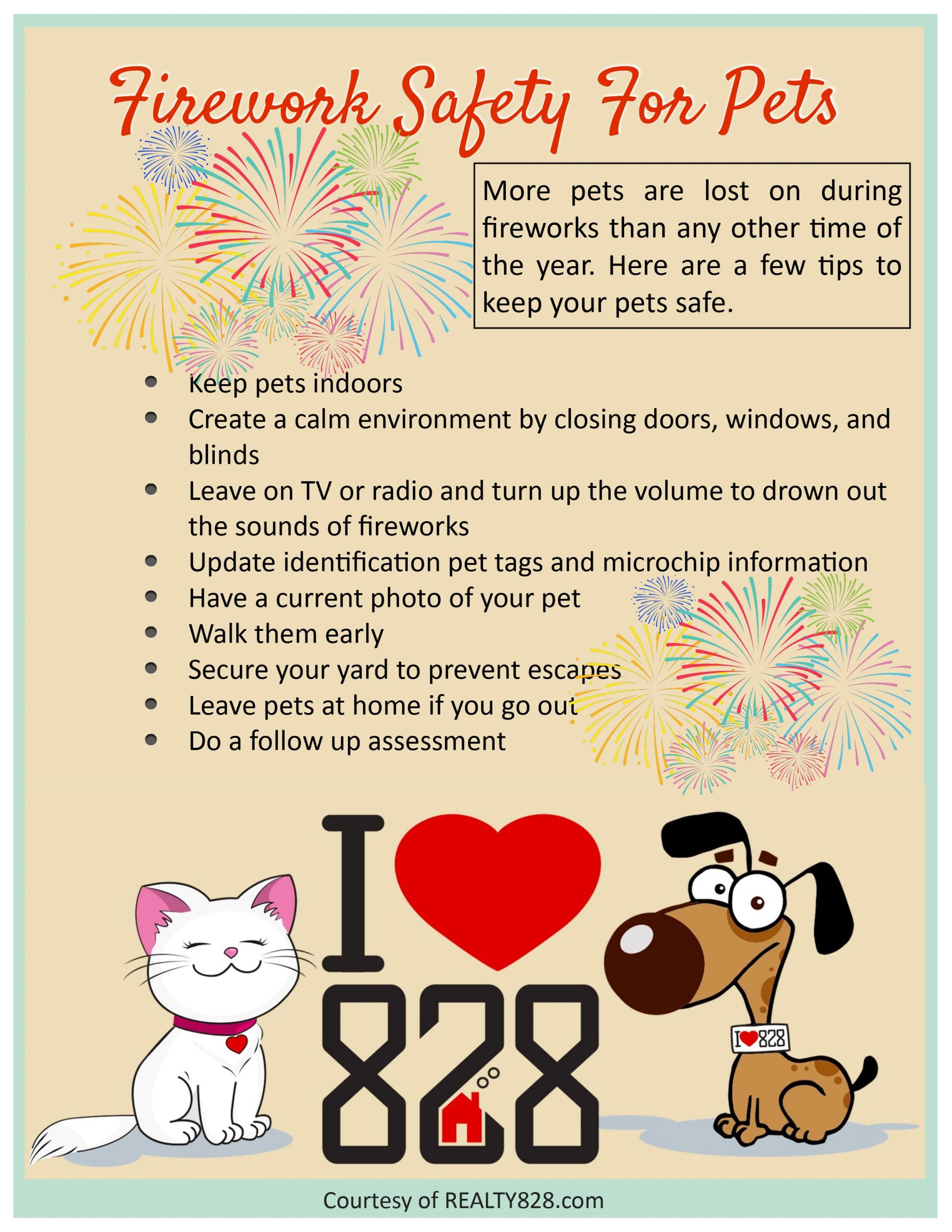 Firework Safety For Pets