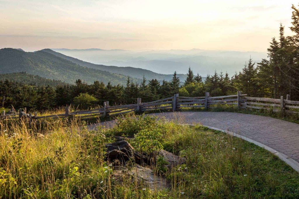 mount mitchell views from wnc hike trial